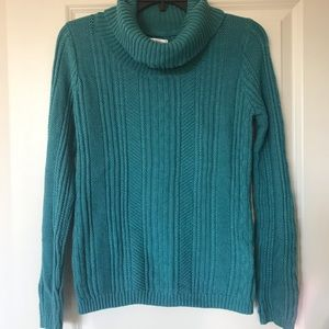NWOT Teal long sleeve, turtleneck women's sweater
